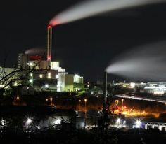 Langzeitbelichtung Kraftwerk