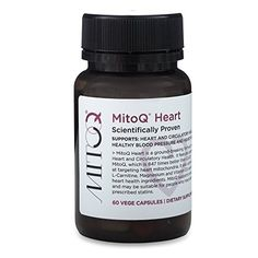 MitoQ Heart 1 Month 60 Capsules  Premium Super CoQ10 for Circulatory Health  Healthy Blood Pressure with Vitamin D3 LCarnitine  Magnesium * You can get more details by clicking on the image.
