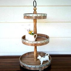 affiliate pin Tiered display stands are the perfect choice for organization or to display your favorite collectibles. Our Metal and Wood 3 Tier Round Tray Stand features 3 different sized trays for optimal storage and display options and will certainly add a warm farmhouse charm,farmhouse decor | farmhouse decor