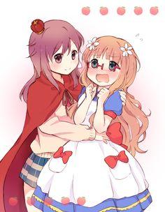Mitsuki and Haruka as Snow White and Prince Charming