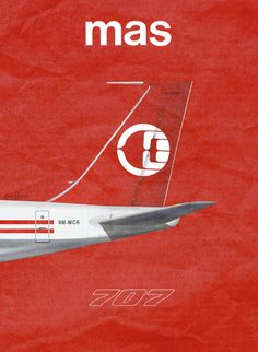 Malaysia Airline System Airlines 707, by Rick Aero www.Facebook.com/VintageAirliners www.VintageAirliners.com