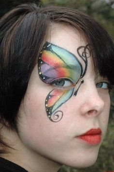Babin House of Party - Face Painting Butterfly Face Paint, Butterfly Makeup, Face Painting Designs, Body Painting, Paint Designs, Kids Makeup, Fun Makeup, Fantasy Costumes, Fantasy Makeup
