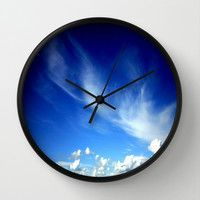 Cloud Formations Wall Clock by Chris' Landscape Images of Australia | Society6