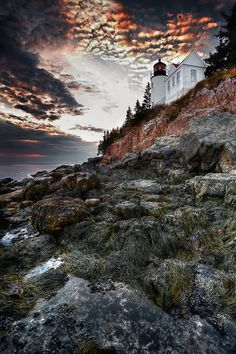 Beautiful and historic Bass Harbor Head Lighthouse, on the southeast end of Mount Desert Island, Maine by Neil Shapiro  For Maine vacation ideas and lodging guide check out www.VisitMaine.net