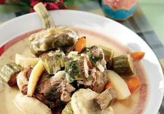 Young Goat Fricasee with Artichokes and Fennel Greek Easter, Food Categories, Spanakopita, Greek Recipes, Fennel, Pot Roast, Lamb, Food To Make, Pork