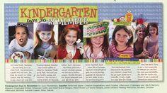 Kindergarten layout idea - Creating Keepsakes