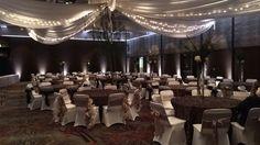 Wedding Reception set up in our Lake Superior Ballroom.  Duluth Wedding Show, DECC.