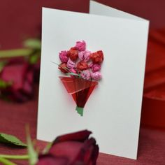 Pink Background as well as Valentines Day Messages and also White Pink Red Color Combination for Valentines day card Flower