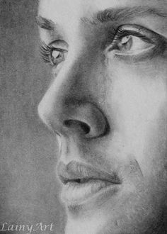 Dean by secrets-of-the-pen on devianart <<<I seriously can't take how awesomely detailed this is^^^ Sam Winchester, Winchester Supernatural, Winchester Brothers, Jensen Ackles, Realistic Drawings, Easy Drawings, Pencil Drawings, Supernatural Drawings, Supernatural Fan Art