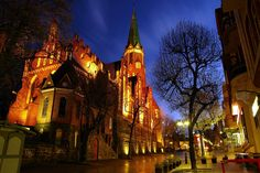 #ancient #architecture #bruges #buildings #cathedral #christianity #church #city #cityscape #dawn #downtown #dusk #evening #illuminated #landmark #lanterns #light #monument #night #outdoors #plants #road #shops #street #