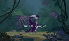 She's even fabulous when she is trekking through a dark and scary jungle. | 24 Reasons Yzma And Kronk Are The Best Disney Characters Ever