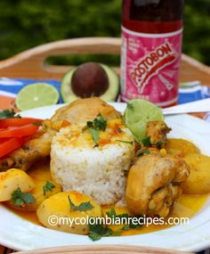 Sudado de Pollo (Colombian-Style Chicken Stew) - I Cook Different Colombian Dishes, My Colombian Recipes, Colombian Cuisine, Cuban Recipes, Fun Easy Recipes, Healthy Recipes, Spinach Recipes, Columbian Recipes, Latin American Food