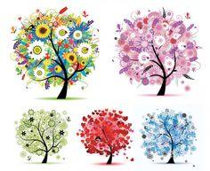 arboles de colores dibujos - Buscar con Google