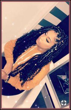 Celebrities and Their Hair Braids Black Girl Braids, Braids For Black Hair, Girls Braids, Faux Locs Hairstyles, My Hairstyle, Short Hairstyles, Twist Braids, Twists, Hair Game