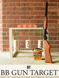 Get the kids outdoors and help them perfect their shot with this fun DIY BB gun target. | LITTLE RED BRICK HOUSE