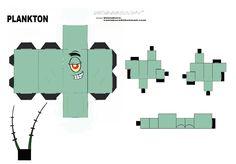 CUBEECRAFT PLANKTON SPONGEBOB by vaniakorn5.deviantart.com on @deviantART