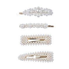 That's my pearl. Hop on the trend train and grab these rad 4 pack hair clips. Perfect to elevate any outifit! This slide features an oversized design, pearl-inspired detailing, and grip closure, size: U, colour: White and gold, category: fashion/accessories Hair Clips, Finding Yourself, Fashion Accessories, Vintage Fashion, Packing, Train, Closure, Pearls, Inspired