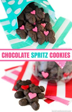 A Delicious Recipe Chocolate Spritz Cookies. Perfect for a bake sale for Cookies For Kids' Cancer. #OXOGoodCookies