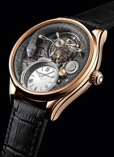 La Cote des Montres : La montre Montblanc Collection Villeret Tourbillon Bi-Cylindrique 110 Years Anniversary - Montblanc célèbre 110 ans d'esprit pionnier