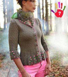 bayanlar-icin-orgu-elbise-modelleri- (10) - El Sanatları ve Hobi