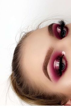 Metallic pink halo e