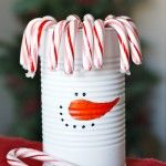 Sweet and Frosty {DIY Snowman Can}