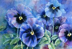 Blue Pansy ~ art