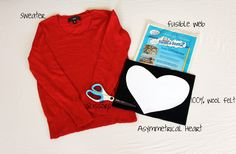 heart sweater tutorial by Amy Day to Day