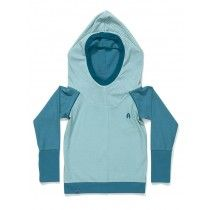 AlbaBaby Gordon Hood Blouse Blue Cubes