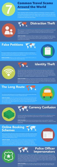 7 most common scams around the world that target tourists (INFOGRAPHIC)