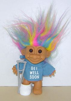 "TROLL NECKLACE NEW 24/"" in length 1/"" Russ Troll Doll"