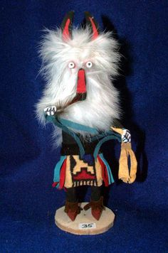The wolf Kachina is highly respected & considered a great pack hunter who helps & guides the hunters on large combined hunts by using his great knowledge to find and capture game animals.  $24.95 w/ free shipping #kachina #nativeamerican