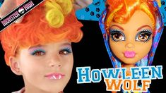 Howleen Wolf Monster High Doll Costume Makeup Tutorial for Cosplay or Ha...