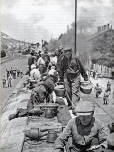 Batyuzók érkeznek Budapestre, 1945