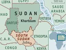 History: This map shows the secession border line for south Sudan. Southern Sudan seceded from Sudan after a referendum in 2011, they seceded because the they didn't get the rights that the north got. They also seceded because they differed a lot in religion.