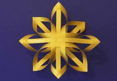 How to make Christmas Paper star Kirigami ~ Paper Origami Folding . Christmas Origami, Christmas Sewing, Christmas Ornaments, Christmas Tree, Origami Guide, Diamond Template, Origami Fish, Useful Origami, Paper Crafts Origami