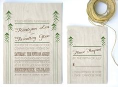 Rustic Wedding Invitation woodland invitation by twigsprintstudio, $2.75