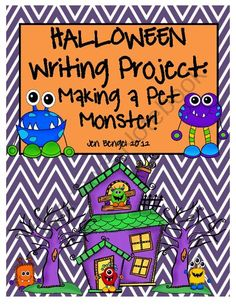 Halloween Writing Project: Make a Pet Monster!!  Tons of Printables with Common Core Standards