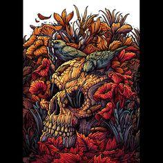 Dan Mumford — The Fall (Nice skull)