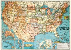 Vintage US Map Wrapping Paper Free Paper And Vintage Maps - Free paper us map