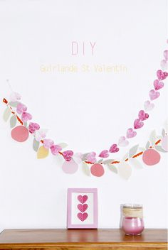 free printable heart garland 6