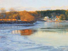 Morning on Icy River, 18x24, Oil,   Debra Lee Valeri