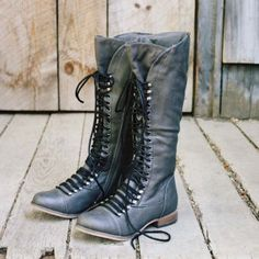 Upper County Boots in Gray...