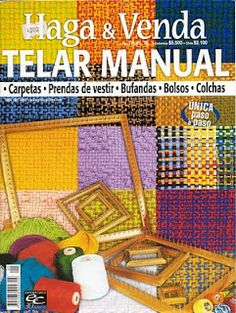 revistas descargables gratuitas: telares, ganchillo, etc Tablet Weaving, Loom Weaving, Hand Weaving, Handmade Crafts, Diy And Crafts, Crochet Symbols, Weaving Projects, Crochet Magazine, Tapestry Weaving