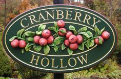 Cranberry Hollow Property Sign   Danthonia Designs