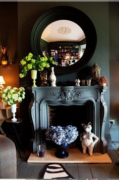 the fireplace is always meant to be a focal point