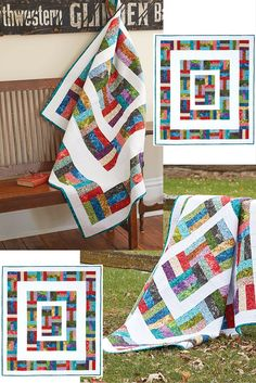 Around the Rail Fence by Lisa Swenson Ruble is in the Jan/Feb 2016 issue of Quilting Quickly. That means there's a free tutorial on how to put this quilt together! You can find that video when you follow the link. This fun and colorful Rail Fence quilt uses pre-cut jelly roll strips to make it a simple and time-saving project.