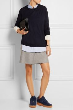 Acne Studios | Wrap-effect wool-blend felt mini skirt | NET-A-PORTER.COM