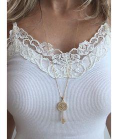 colar tiffany inspired chave folheado ouro semi joias