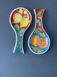 Mixed Fruit, Toot, Spoon Rest, Pottery, My Style, Tableware, Ceramic Painting, Watercolor Paintings, Ceramic Spoons